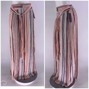 NWT DOWNEAST SKIRT Long Maxi Stripe SMALL
